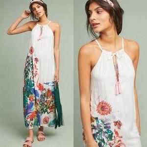 Anthropologie Postmark Beach Flamingo Maxi Dress